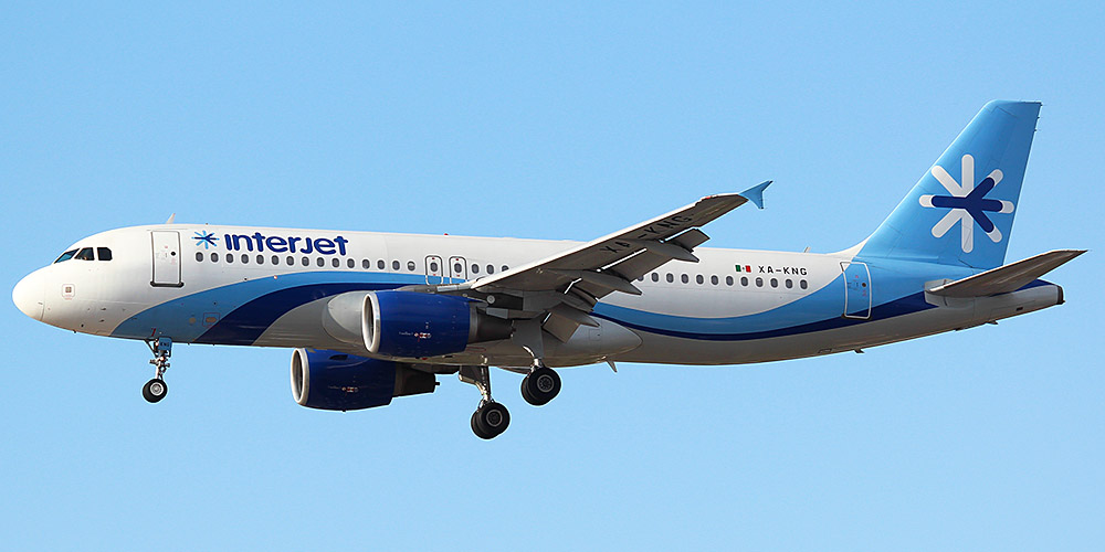 Airbus A320 авиакомпании Interjet