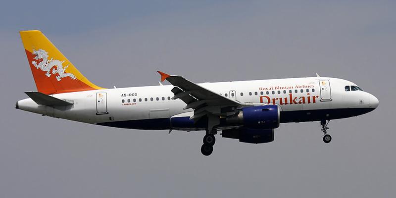 Airbus A319 авиакомпании Druk Air