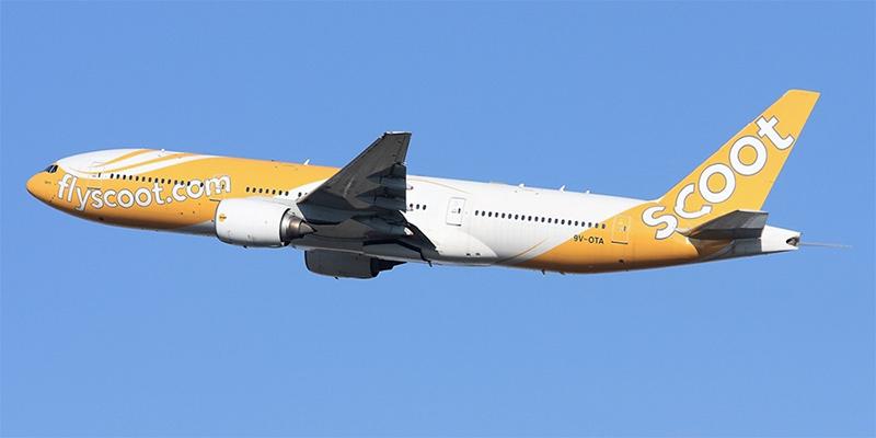 Самолет Боинг-777-200 авиакомпании Scoot