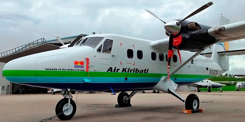 Самолет DHC-6 Twin Otter авиакомпании Air Kiribati