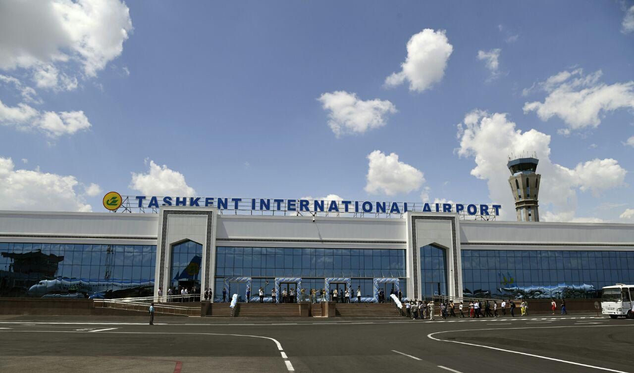 The arrivals terminal of Tashkent International airport