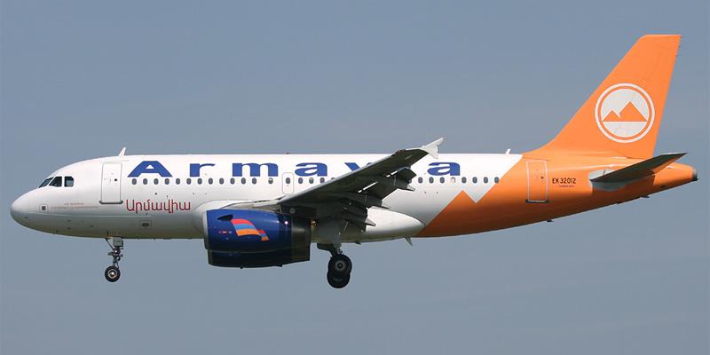Самолет Airbus A319 авиакомпании Армавиа