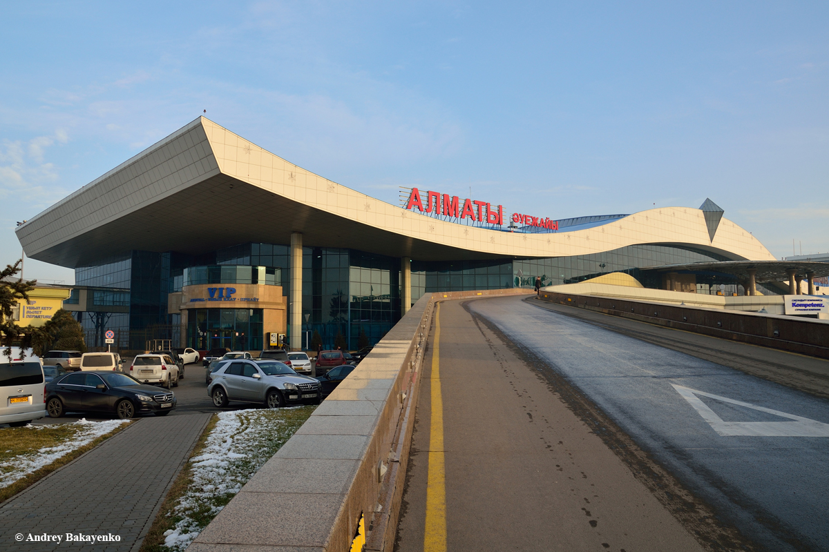 The main passenger terminal of Almaty airport