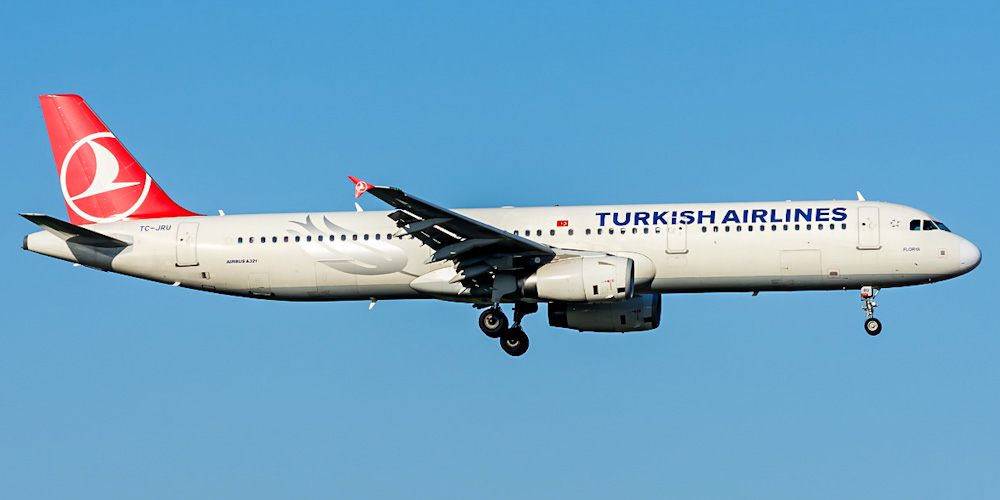 Airbus A321 авиакомпании Turkish Airlines