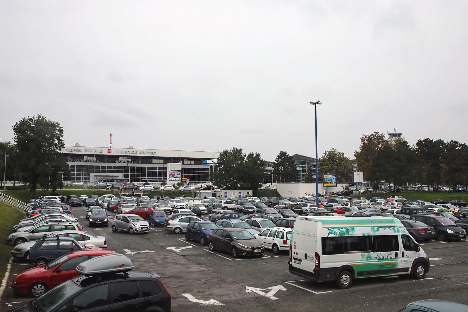 Parking on the forecourt of the airport Belgrade Nikola Tesla