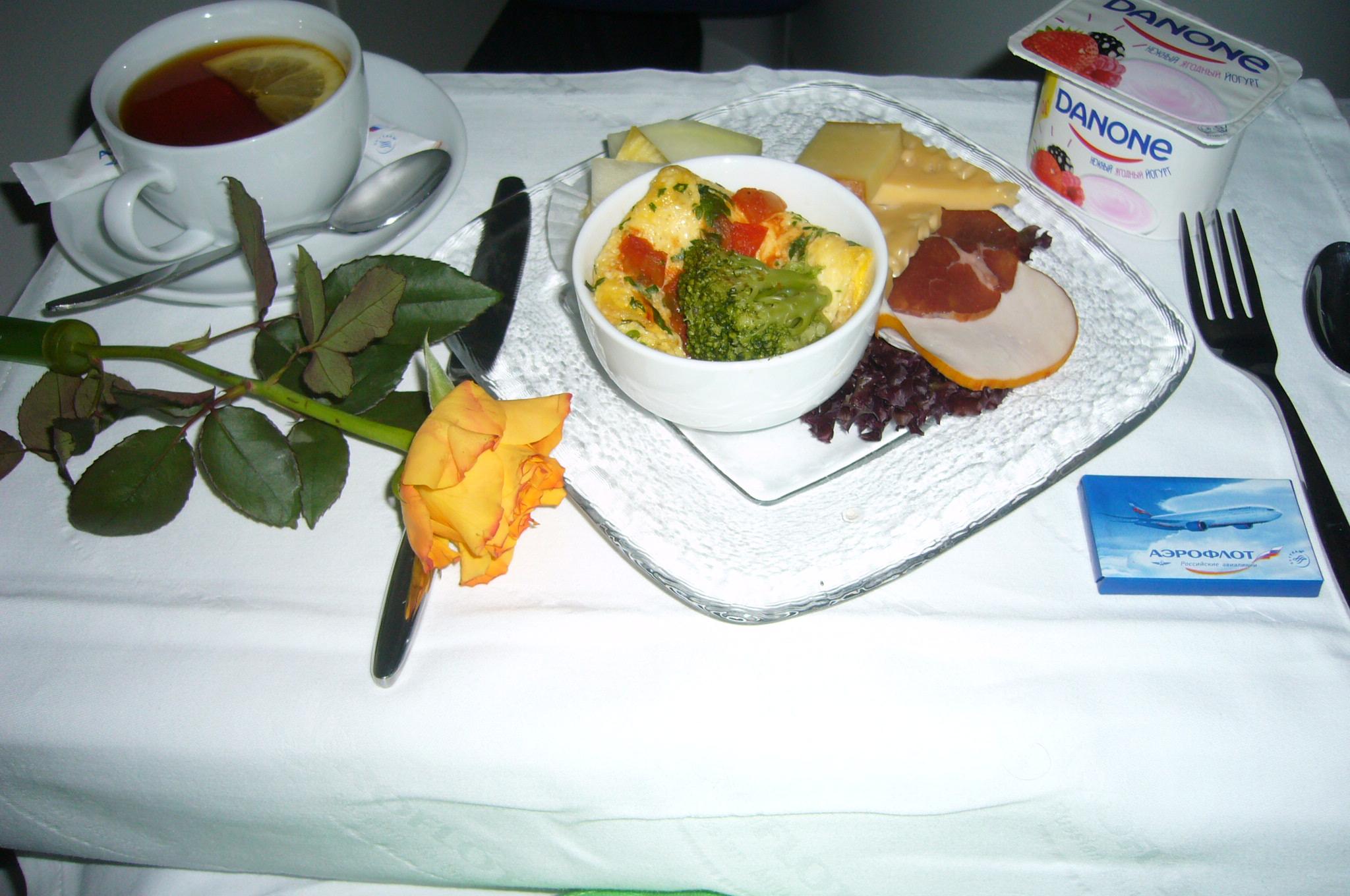 Aeroflot, Breakfast, Russia, the far highway