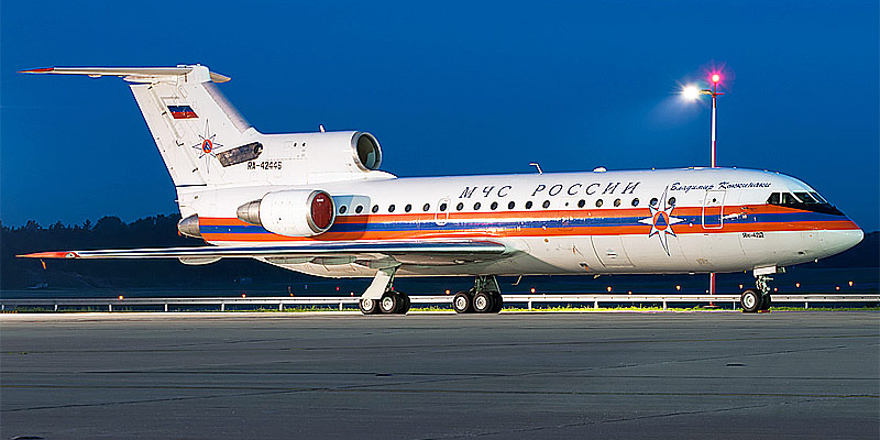 Самолет Як-42 авиакомпании МЧС России