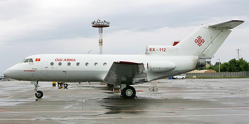 Самолет Як-40 авиакомпании Ош-Авиа