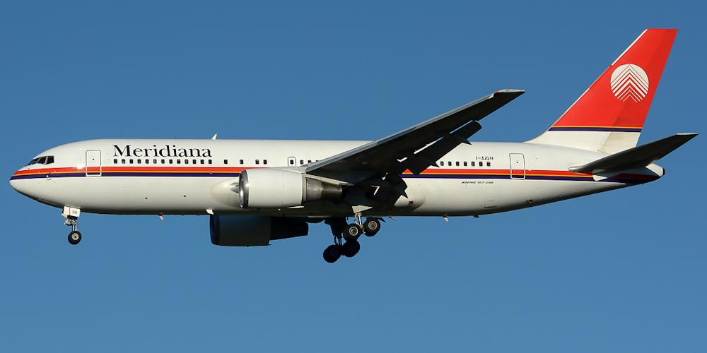 Боинг-767-200 авиакомпании Meridiana