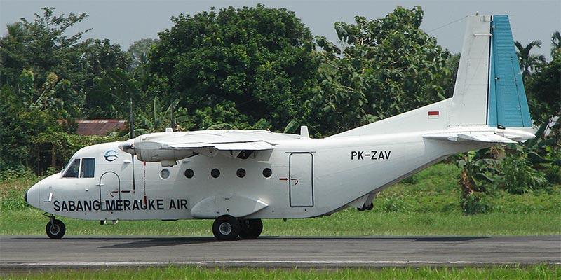 Самолет NC-212 авиакомпании SMC