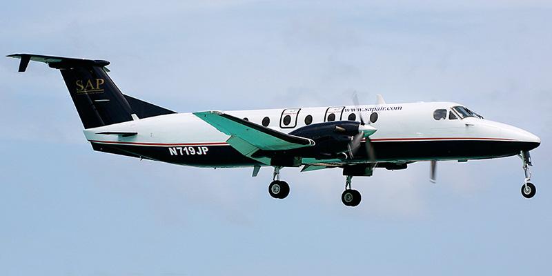 Самолет Beech 1900 авиакомпании SAP