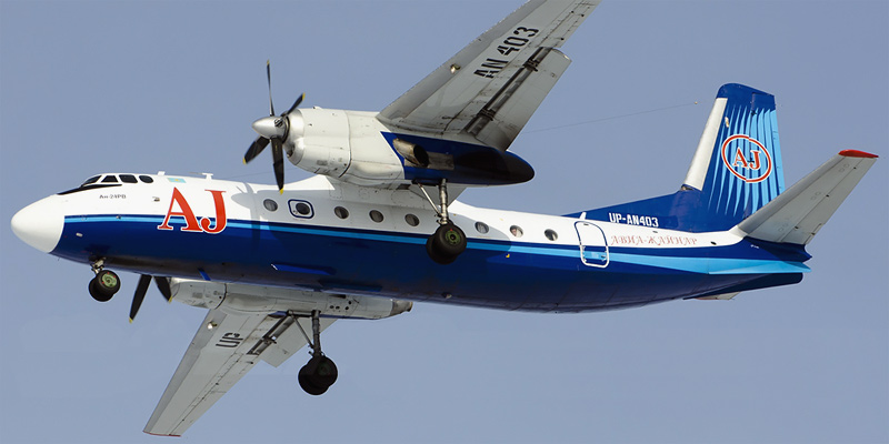 Самолет Ан-24 авиакомпании Авиа Жайнар