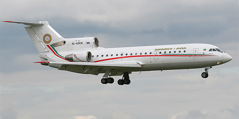 Самолет Як-42 авиакомпании Грозный-Авиа