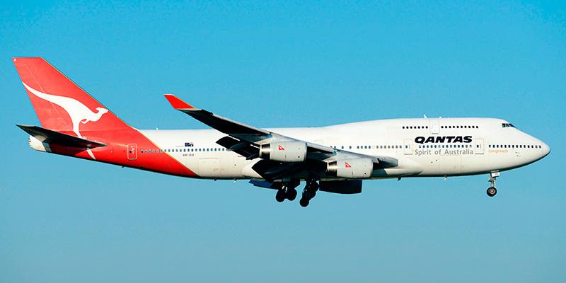 Самолет Боинг-747-400 авиакомпании Qantas