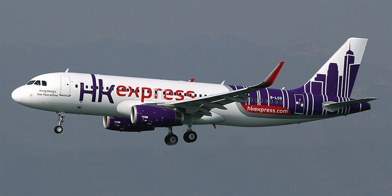 Airbus A320 авиакомпании Hong Kong Express