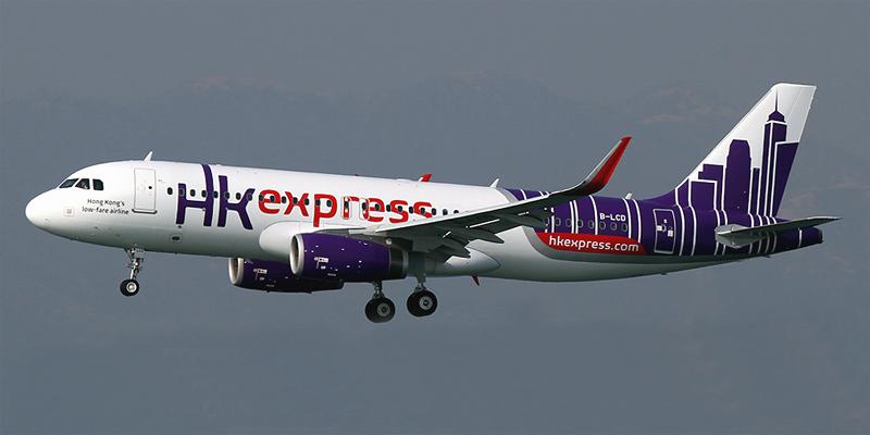 Airbus A320 авиакомпании Hong Kong Express