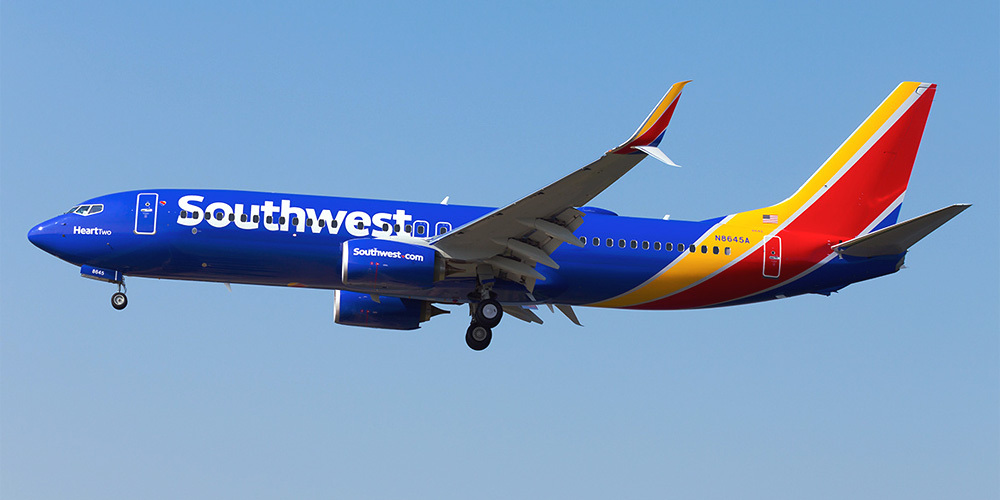 Самолет Боинг-737-800 авиакомпании Southwest Airlines