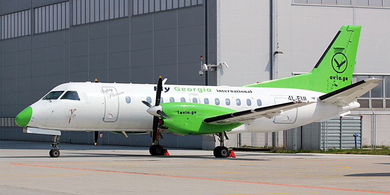 Самолет Saab 340 авиакомпании Georgian International Airlines