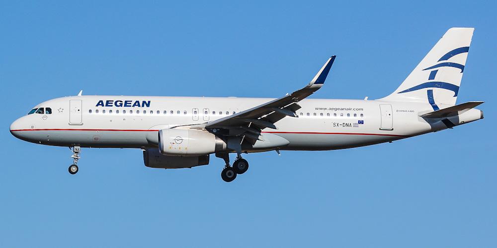 Airbus A320 авиакомпании Aegean Airlines
