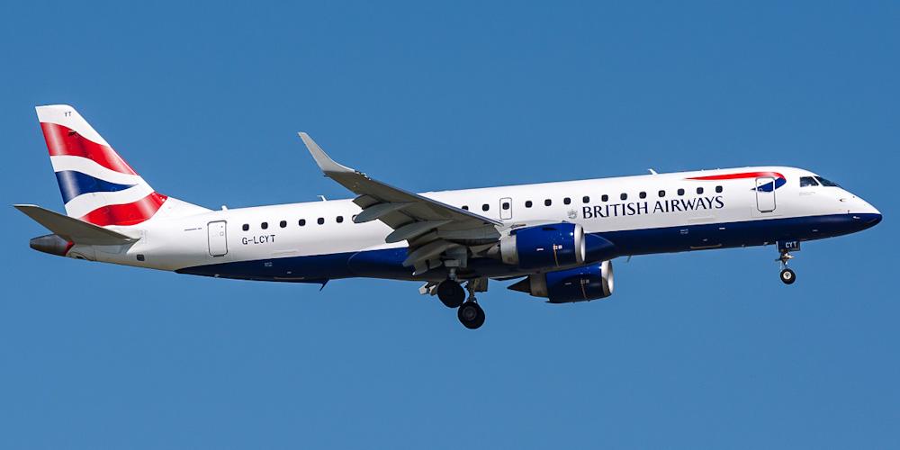 Самолет Embraer 190 авиакомпании BA CityFlyer