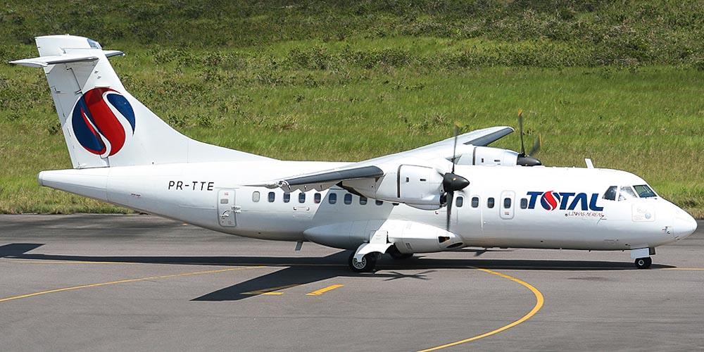 Самолет ATR 42 авиакомпании TOTAL