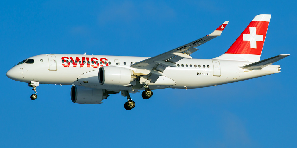 Bombardier CS100 авиакомпании Swiss European Air Lines