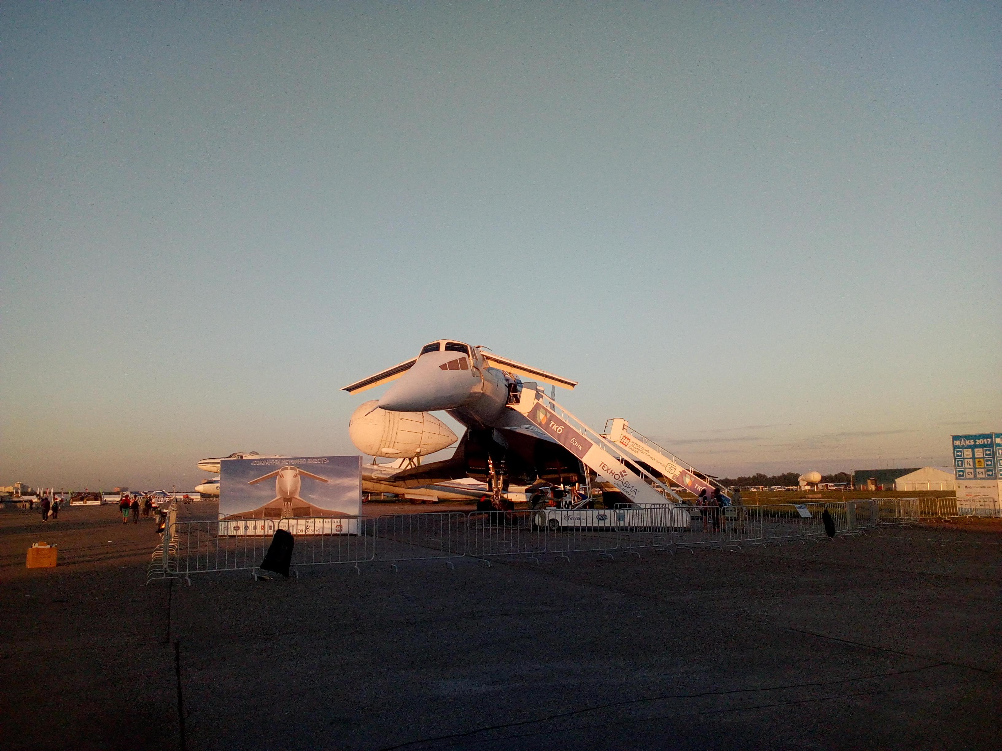 Tu-144 on MAKS-2017