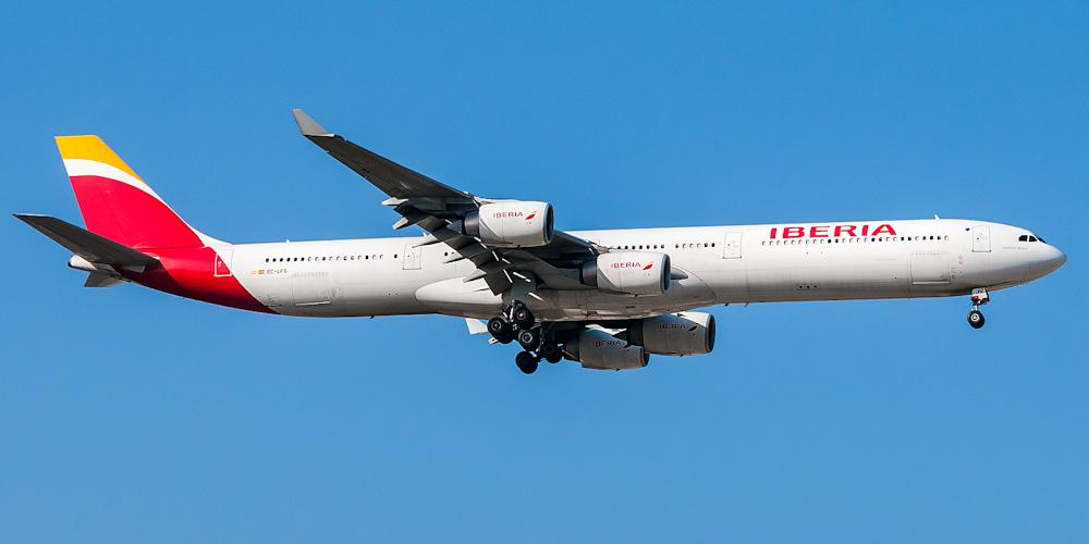 Airbus A340-600 авиакомпании Iberia