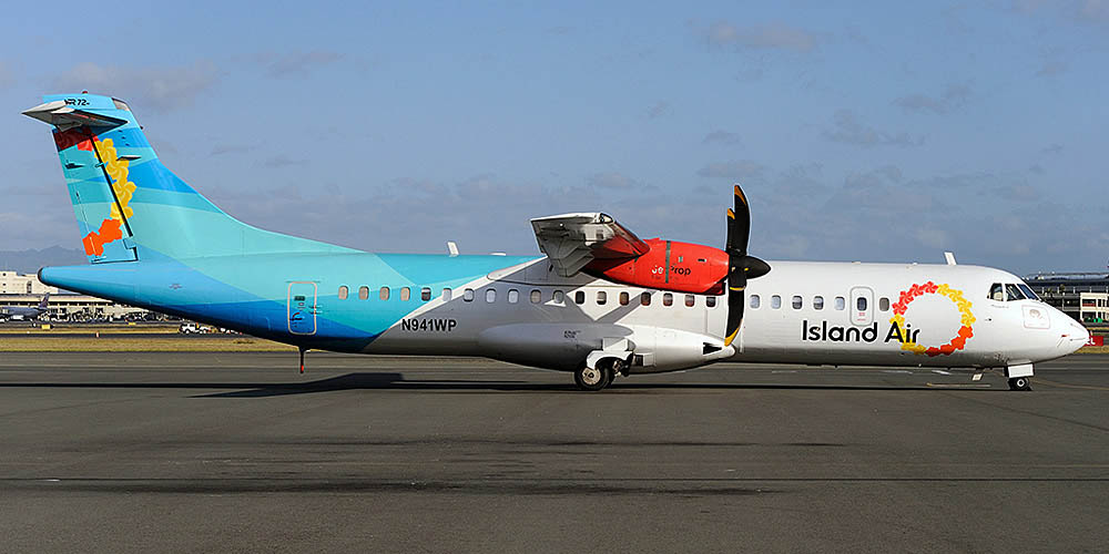 Самолет ATR 72 авиакомпании Island Air
