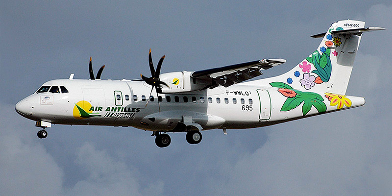 Самолет ATR 72 авиакомпании Air Antilles Express