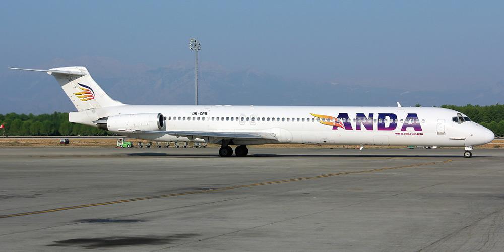 Самолет MD-83 авиакомпании Anda Air