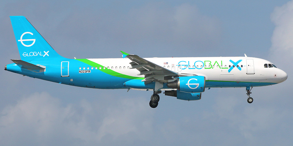 Airbus A320 авиакомпании GlobalX