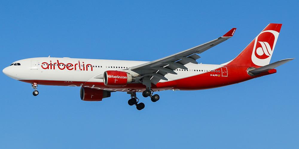 Airbus A330-200 авиакомпании Air Berlin