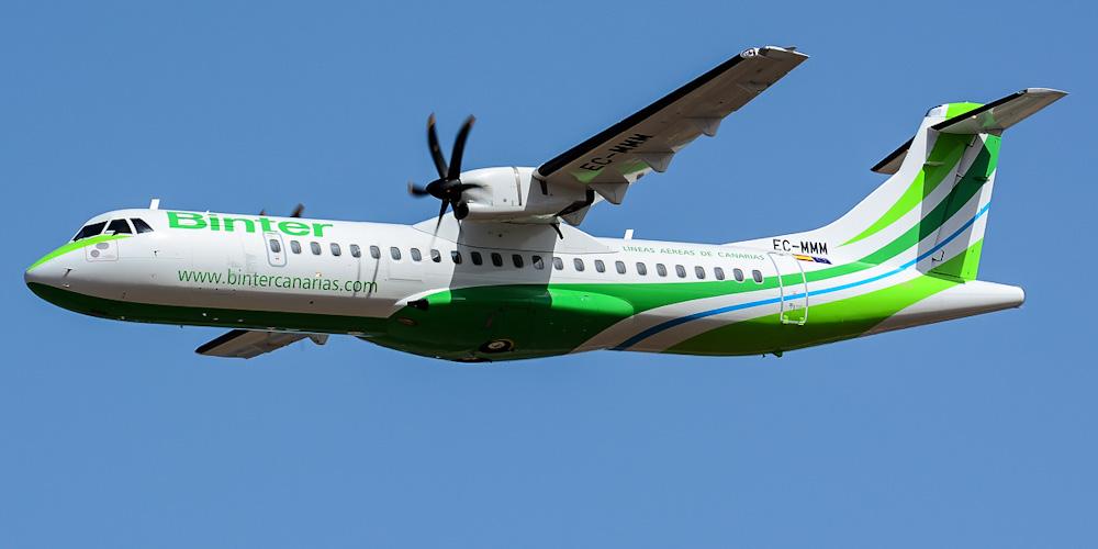 Самолет ATR 72 авиакомпании Binter Canarias