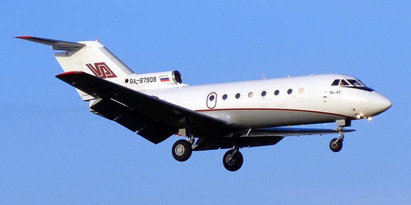 Самолет Як-40 авиакомпании Аэролимузин