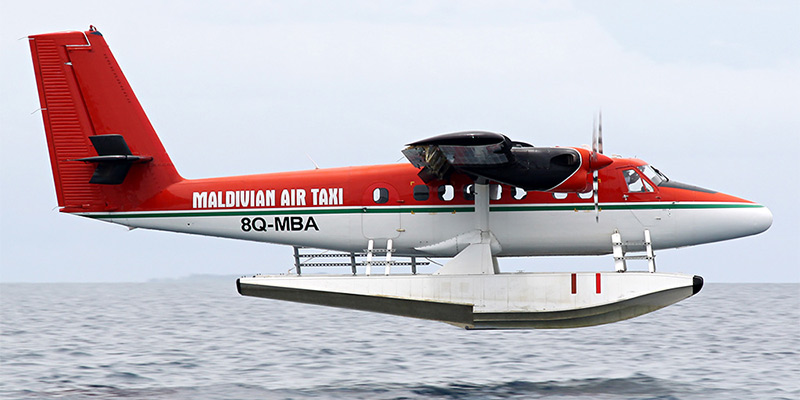 Самолет DHC-6 Twin Otter авиакомпании Maldivian Air Taxi