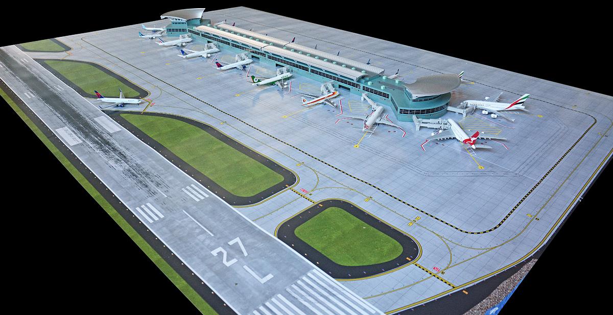 Новый аэропорт GeminiJets (терминал + поле)