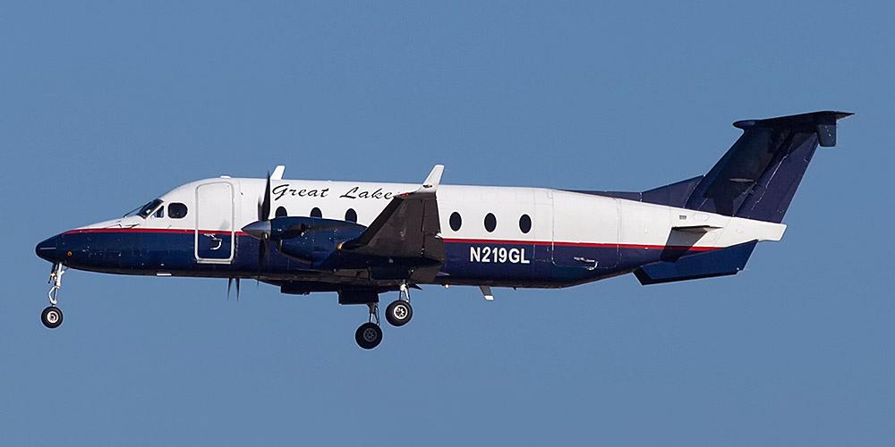 Самолет Beech 1900D авиакомпании Great Lakes Airlines