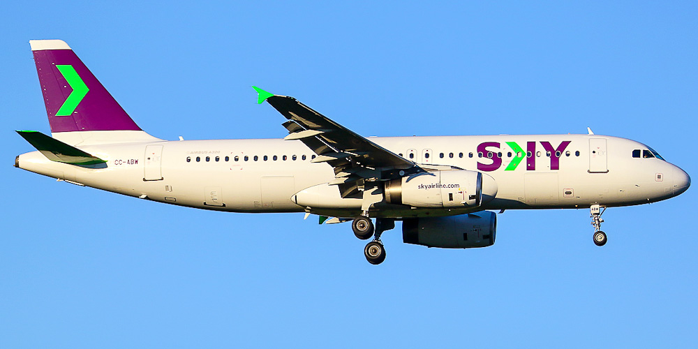 Самолет Airbus A320 авиакомпании SKY