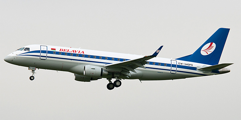 Самолет Embraer 175 авиакомпании Белавиа