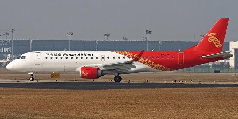 Embraer 190 авиакомпании Henan Airlines