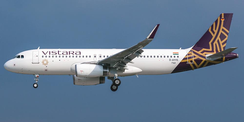 Airbus A320 авиакомпании Vistara