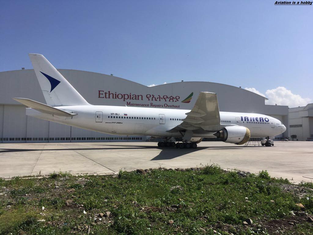 Авиалайнер Боинг-777-200 авиакомпании ИрАэро