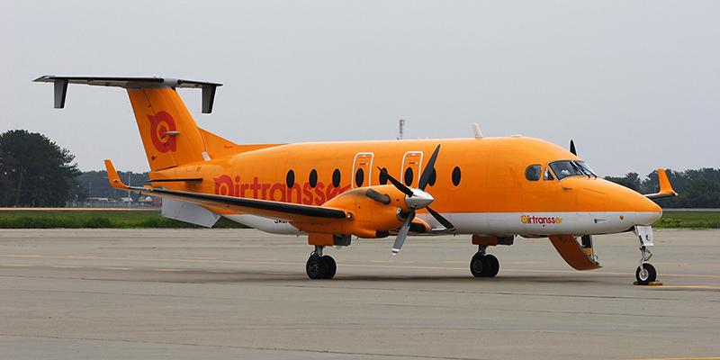 Beech 1900 авиакомпании Air Transse