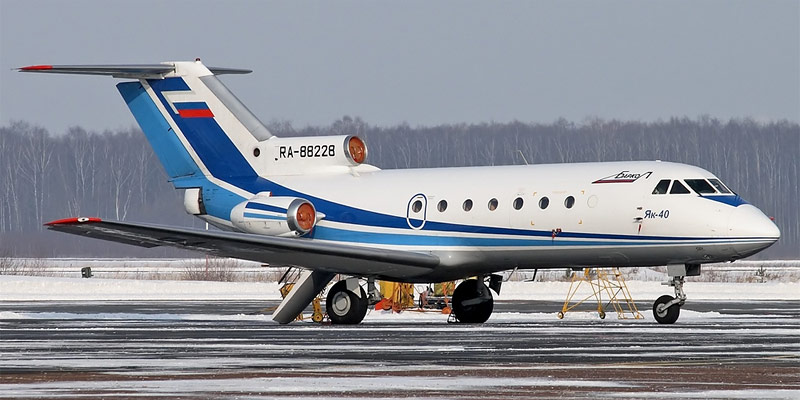 Самолет Як-40 авиакомпании Баркол
