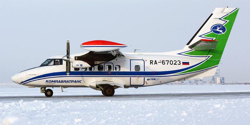 Самолет Л-410 авиакомпании Комиавиатранс