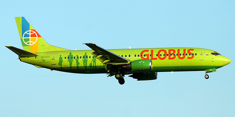 Самолет Боинг-737-800 авиакомпании Глобус