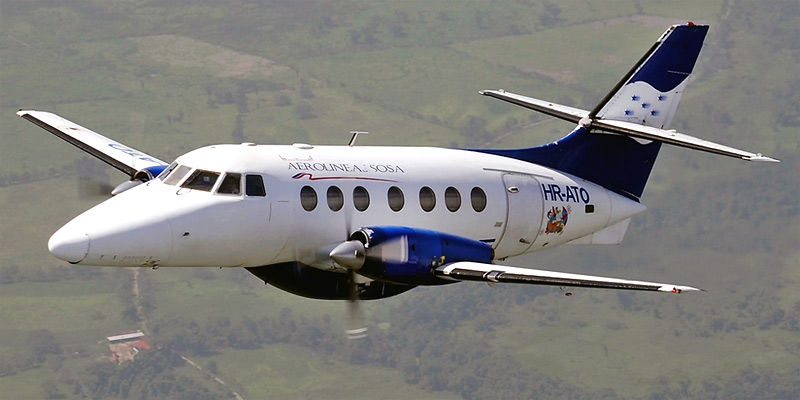Самолет Jetstream 31 авиакомпании Aerolineas Sosa