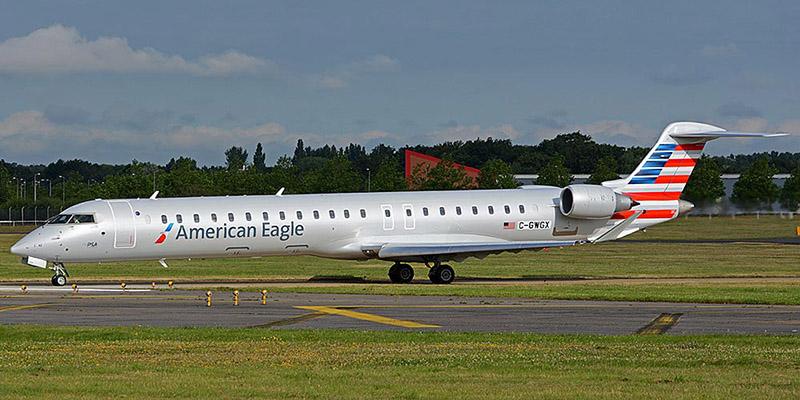 Самолет Bombardier CRJ900 авиакомпании PSA Airlines