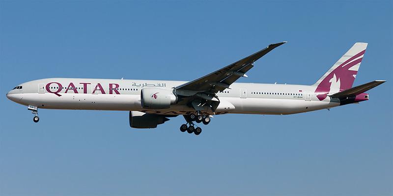 Боинг-777-300 авиакомпании Qatar Airways
